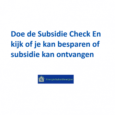 subsidie check