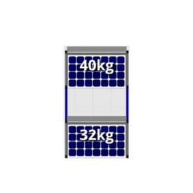 FlatFix Fusion 2 rijen van 1 zonnepaneel
