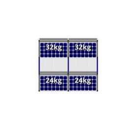 FlatFix Fusion 2 rijen van 2 zonnepanelen
