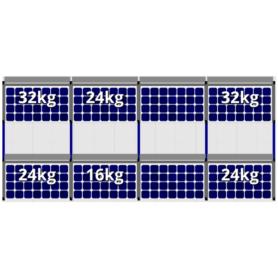 FlatFix Fusion 2 rijen van 4 zonnepanelen