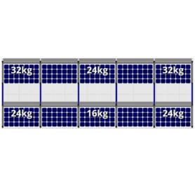 FlatFix Fusion 2 rijen van 5 zonnepanelen