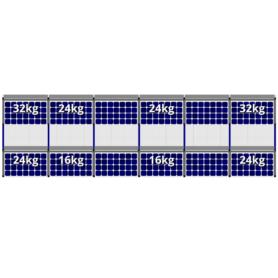 FlatFix Fusion 2 rijen van 6 zonnepanelen