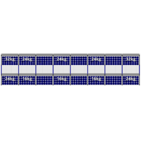 FlatFix Fusion 2 rijen van 8 zonnepanelen