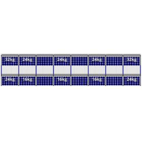 FlatFix Fusion 2 rijen van 9 zonnepanelen