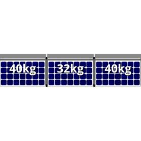 Flatfix fusion 1 rij van 3 zonnepanelen