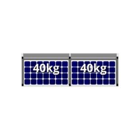 Flatfix fusion 1 rij van 2 zonnepanelen