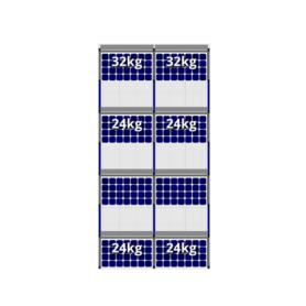 FlatFix Fusion 4 rijen van 2 zonnepanelen