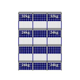 FlatFix Fusion 4 rijen van 3 zonnepanelen