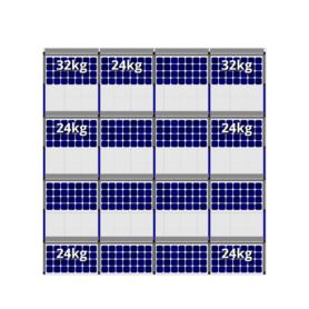 FlatFix Fusion 4 rijen van 4 zonnepanelen