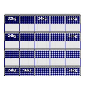 FlatFix Fusion 4 rijen van 5 zonnepanelen