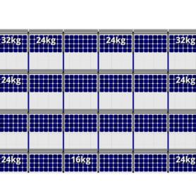 FlatFix Fusion 4 rijen van 6 zonnepanelen