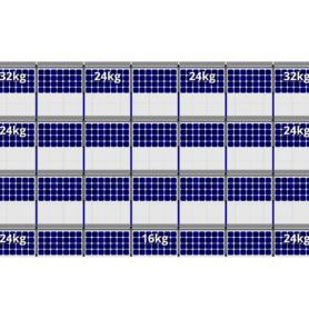 FlatFix Fusion 4 rijen van 7 zonnepanelen