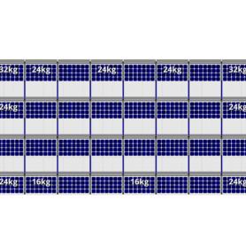 FlatFix Fusion 4 rijen van 8 zonnepanelen