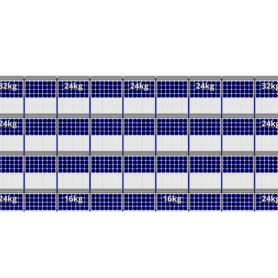 FlatFix Fusion 4 rijen van 9 zonnepanelen