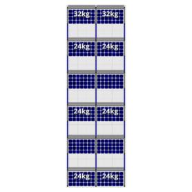 FlatFix Fusion 6 rijen van 2 zonnepanelen