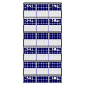 FlatFix Fusion 6 rijen van 3 zonnepanelen