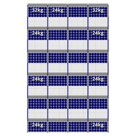 FlatFix Fusion 6 rijen van 4 zonnepanelen
