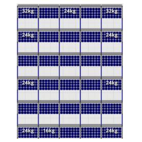 FlatFix Fusion 6 rijen van 5 zonnepanelen