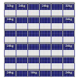 FlatFix Fusion 6 rijen van 6 zonnepanelen