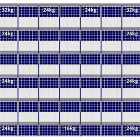 FlatFix Fusion 6 rijen van 7 zonnepanelen