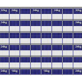 FlatFix Fusion 6 rijen van 8 zonnepanelen