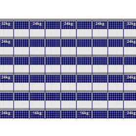 FlatFix Fusion 6 rijen van 9 zonnepanelen