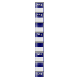 FlatFix Fusion 8 rijen van 1 zonnepaneel