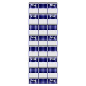 FlatFix Fusion 8 rijen van 3 zonnepanelen
