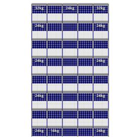 FlatFix Fusion 8 rijen van 5 zonnepanelen