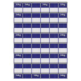 FlatFix Fusion 8 rijen van 6 zonnepanelen