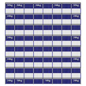 FlatFix Fusion 8 rijen van 8 zonnepanelen