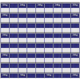 FlatFix Fusion 8 rijen van 9 zonnepanelen