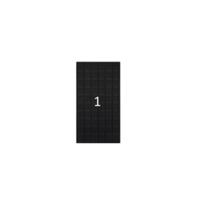 ClickFit EVO zwart portret 1 paneel