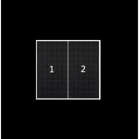 ClickFit EVO zwart portret 2 panelen