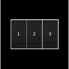 ClickFit EVO zwart portret 3 panelen