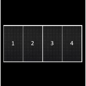 ClickFit EVO zwart portret 4 panelen