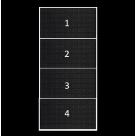 clickfit evo zwart 4 zonnepanelen landscape