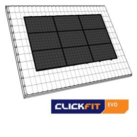 Clickfit Evo zwart landscape dakpannen