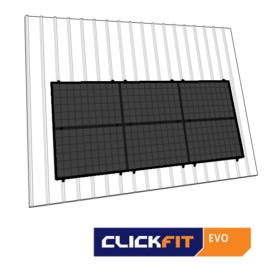 Clickfit EVO staaldak landscape zwart