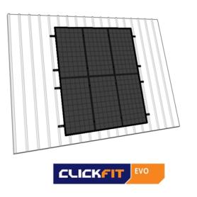 Clickfit EVO staaldak portret zwart