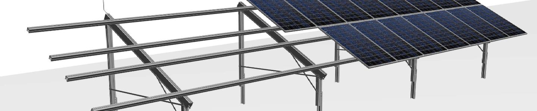 grond opstelling zonnepanelen
