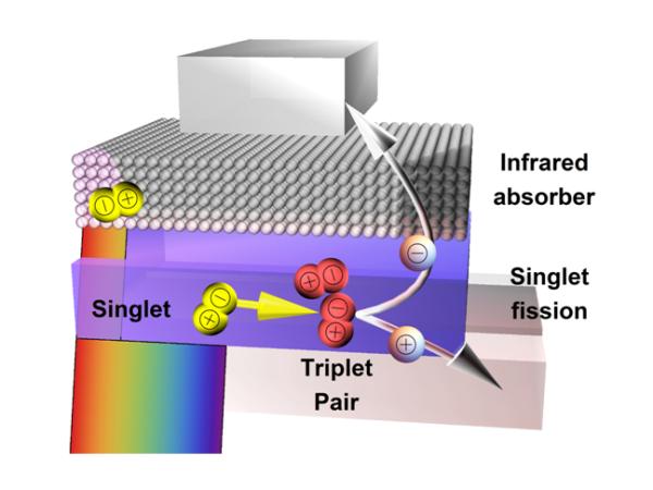 singlet fission zonnepanelen