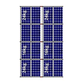 Flatfix fusion oost west 16 panelen 2 rijen