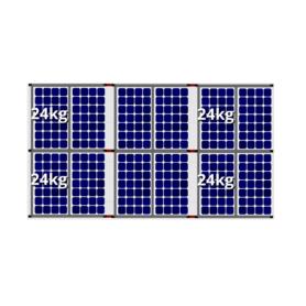 Flatfix fusion zuid opstelling 12 panelen 3 rijen