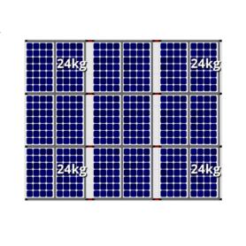 Flatfix fusion zuid opstelling 18 panelen 3 rijen