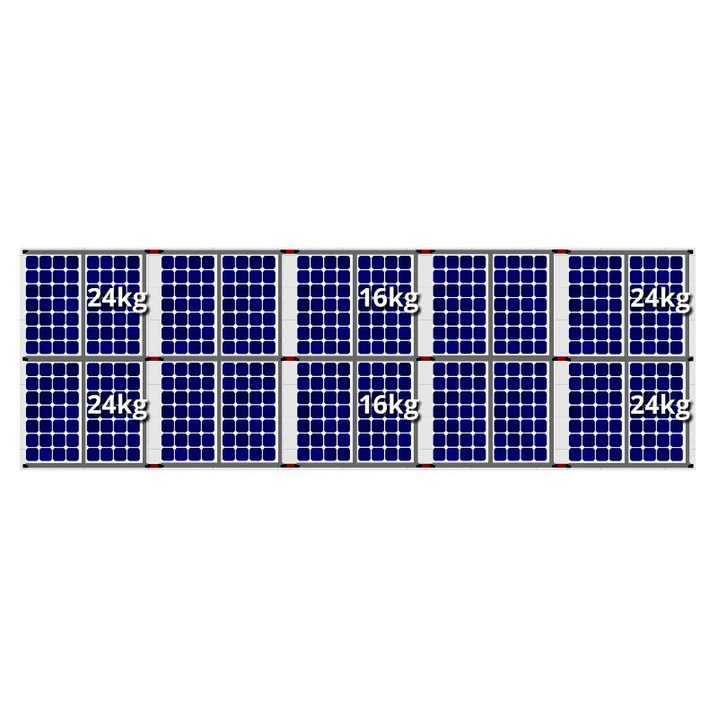Flatfix fusion zuid opstelling 20 panelen 5 rijen