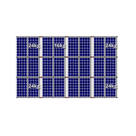 Flatfix fusion zuid opstelling 24 panelen 4 rijen