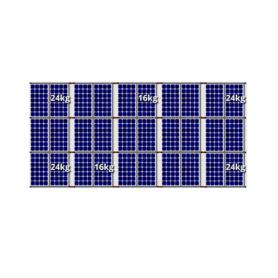Flatfix fusion zuid opstelling 30 panelen 5 rijen