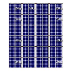 Flatfix fusion zuid opstelling 48 panelen 4 rijen