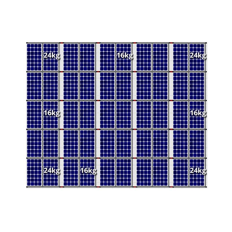 Flatfix fusion zuid opstelling 50 panelen 5 rijen